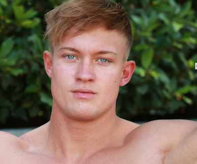 Straight British guy Albie Wicks is a gay porn star for the Englishlads site