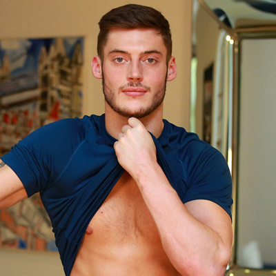 Gay porn star Will Fletcher appears for the English Lads site