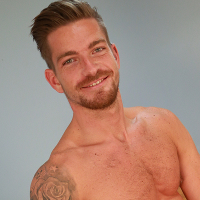 Handsome gay porn star Hudson Scott