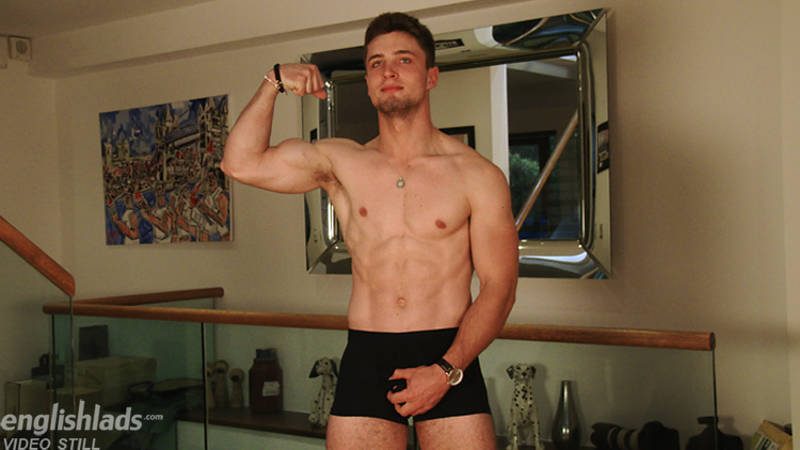 straight jock in a jerk off video